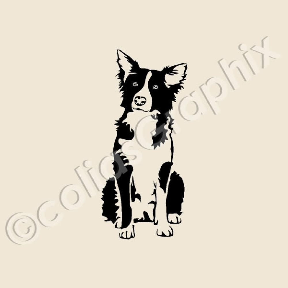border collie hunde wandtattoo hundeaufkleber aufkleber artikel 12. Black Bedroom Furniture Sets. Home Design Ideas