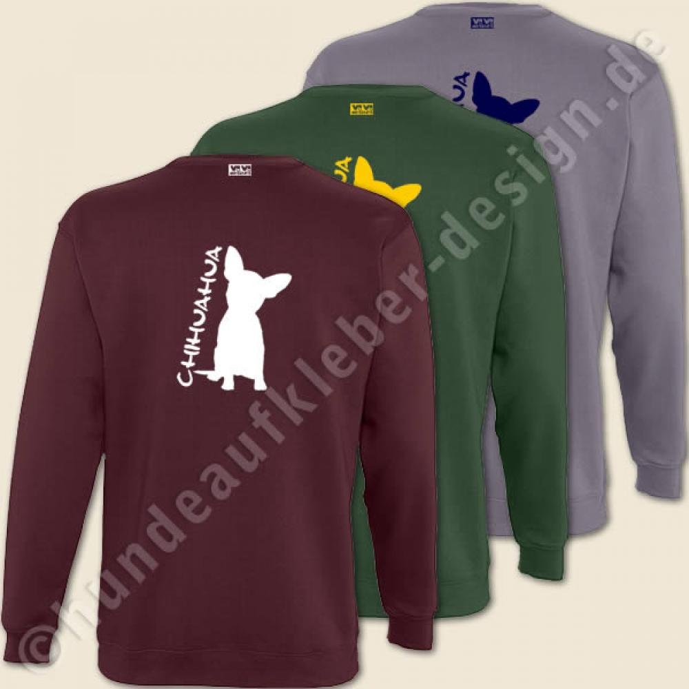 sweatshirt mit chihuahua motiv pullover mit hundeaufdruck art 375. Black Bedroom Furniture Sets. Home Design Ideas
