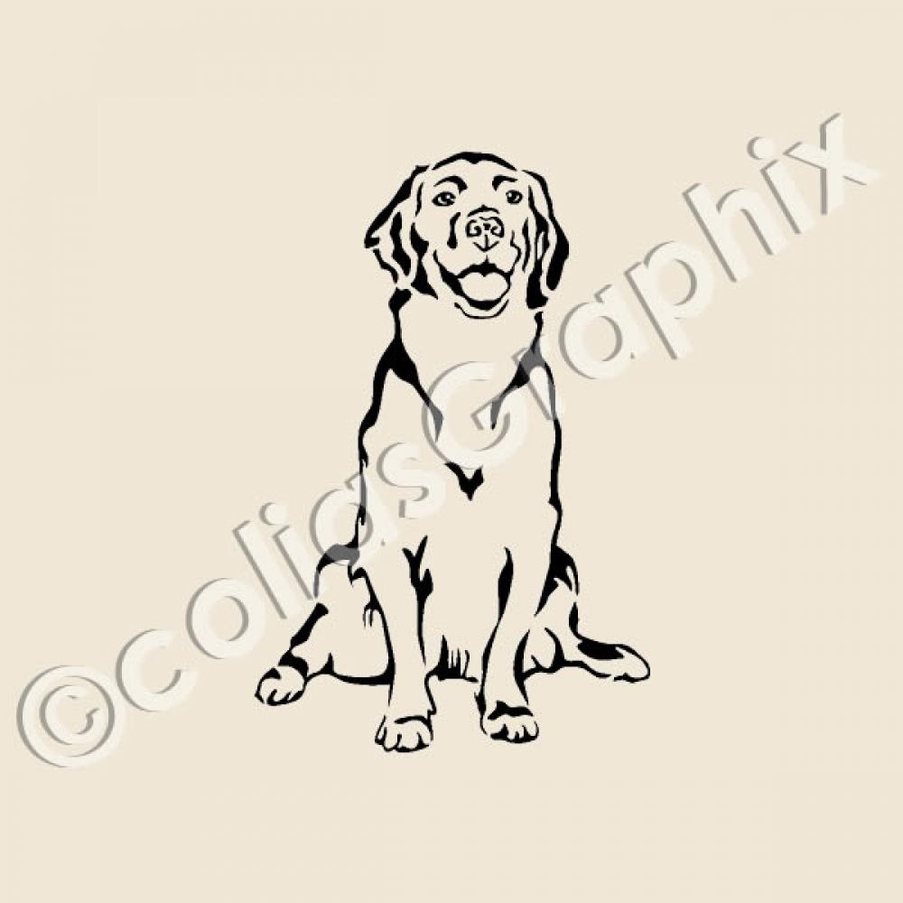 golden retriever wandtattoo hunde hundeaufkleber m xl 24 farben ebay. Black Bedroom Furniture Sets. Home Design Ideas