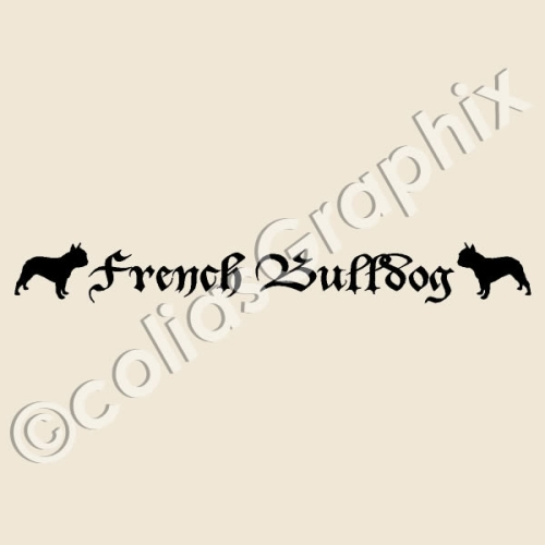 French Bully Banner Aufkleber 267
