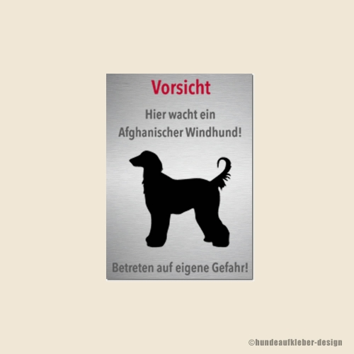 Afghane Warnschild