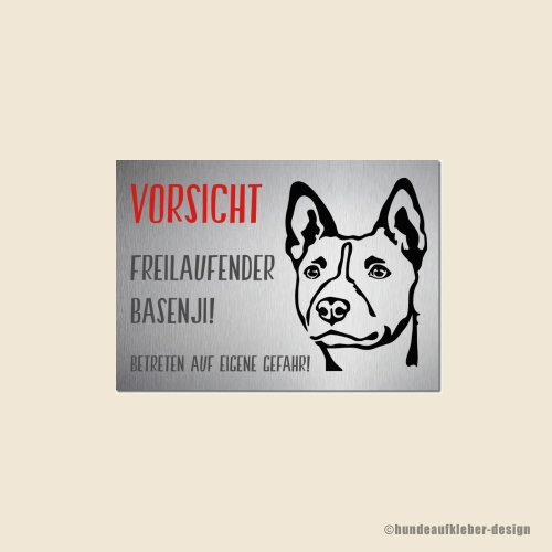 Basenji Warnschild