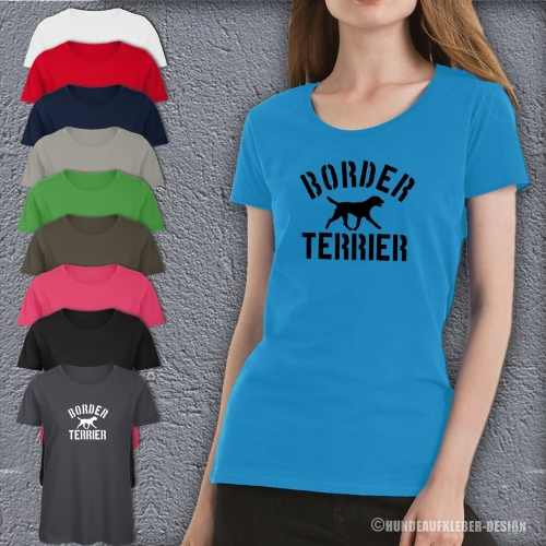 Border Terrier T-Shirt Frauen