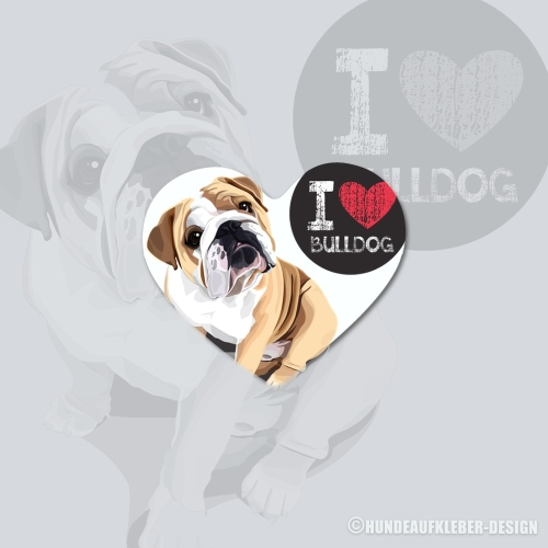 I love Bulldog Magnet