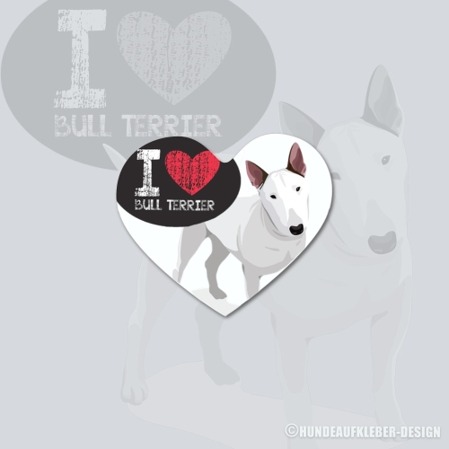 I love Bullterrier Magnet