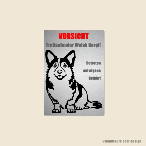 Welsh Corgi Warnschild