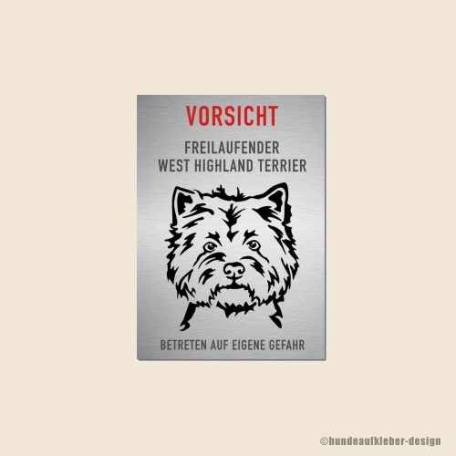 West Highland Terrier Warnschild