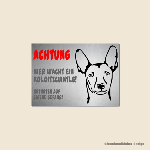 Xoloitzcuintle Warnschild