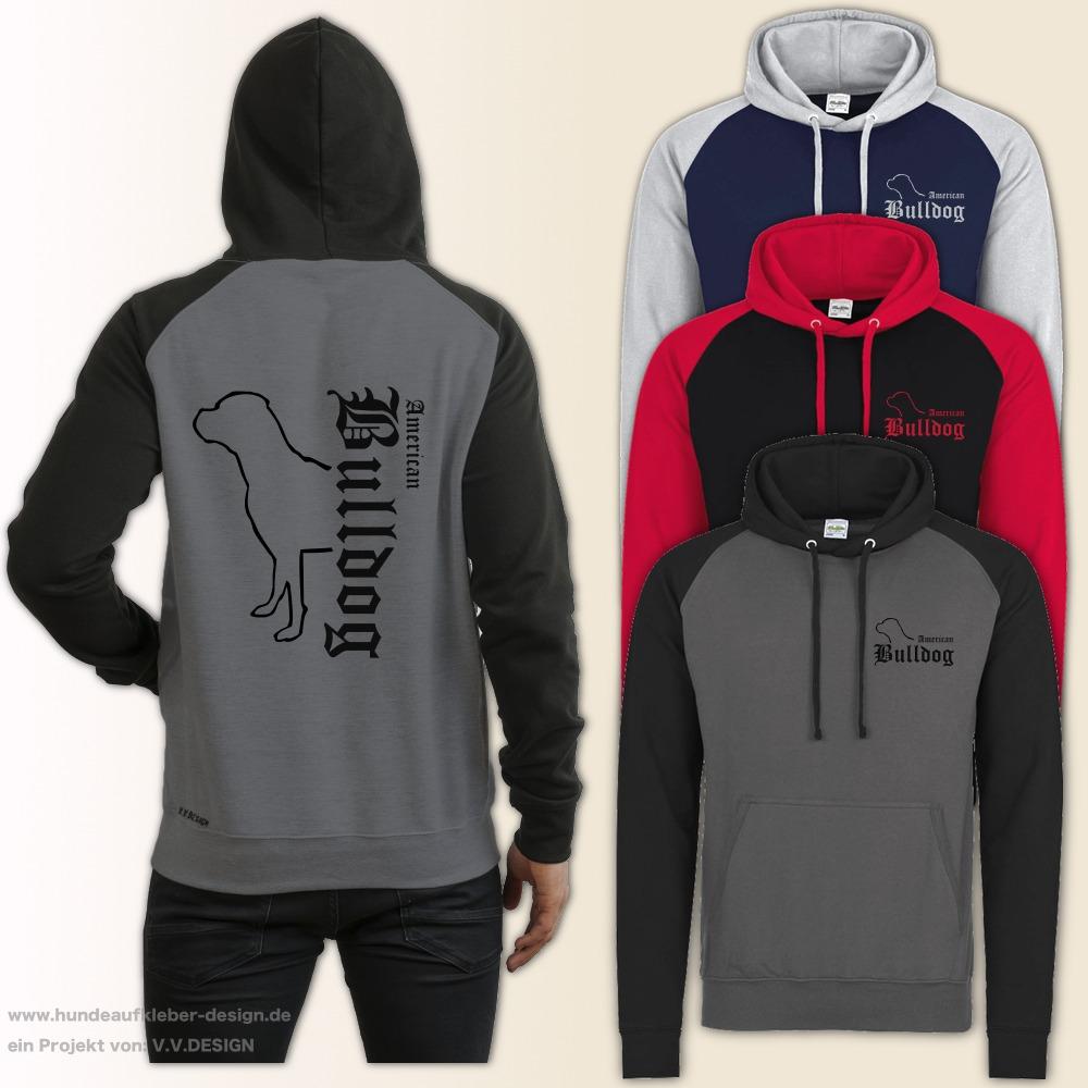 American Bulldog Kapuzen Sweatshirt S-XXL Hoodie Hundedruck Pullover Männer 687