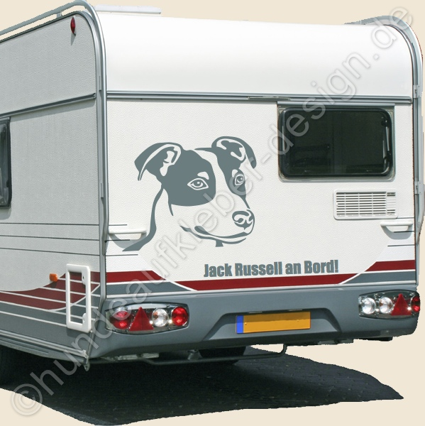 Aufkleber Jack Russell Terrier wetterfester: : Auto