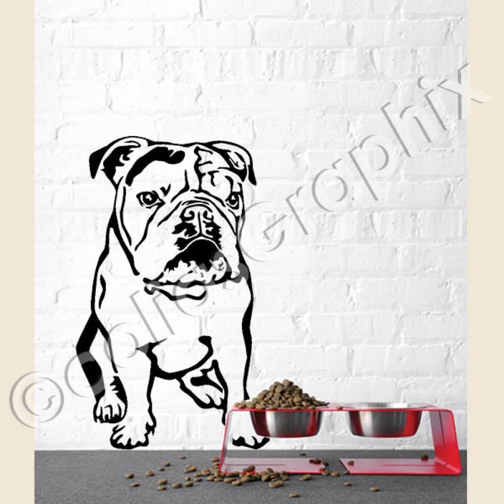 hundeaufkleber shop englische bulldogge wandtattoo. Black Bedroom Furniture Sets. Home Design Ideas