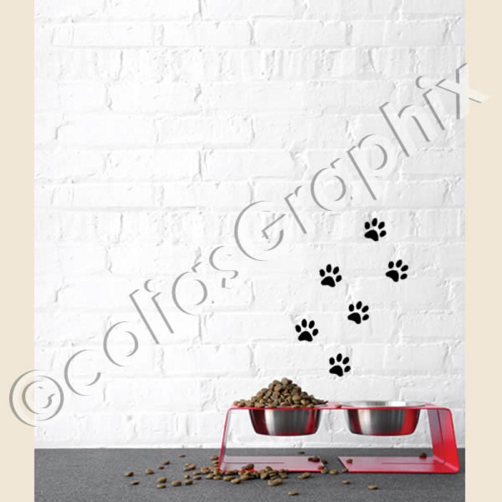 Hundeaufkleber Shop Pfoten Set Aufkleber