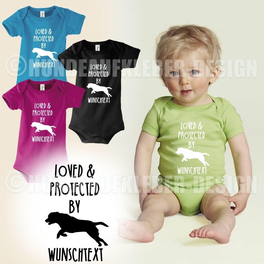 hundeaufkleber shop baby strampler labrador. Black Bedroom Furniture Sets. Home Design Ideas