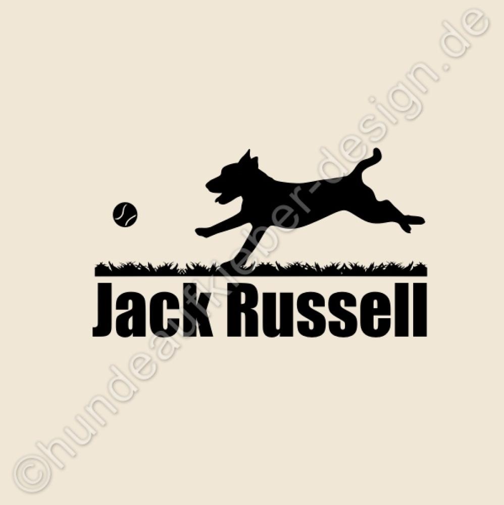 hundeaufkleber shop aufkleber jack russell mit ball. Black Bedroom Furniture Sets. Home Design Ideas