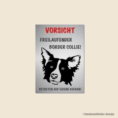 Border Collie Warnschild