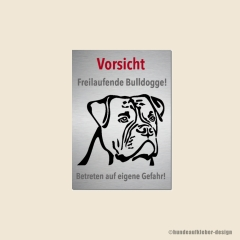 Alternative Bulldog Warnschild