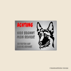 Malinois Warnschild